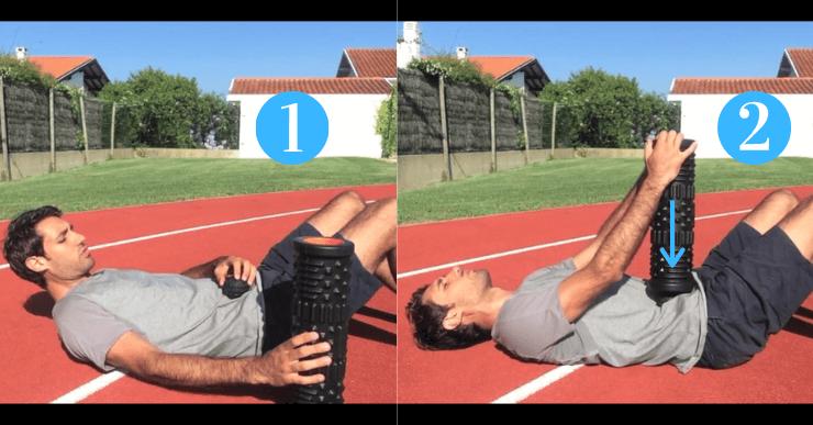 automassage fléchisseurs de hanche
