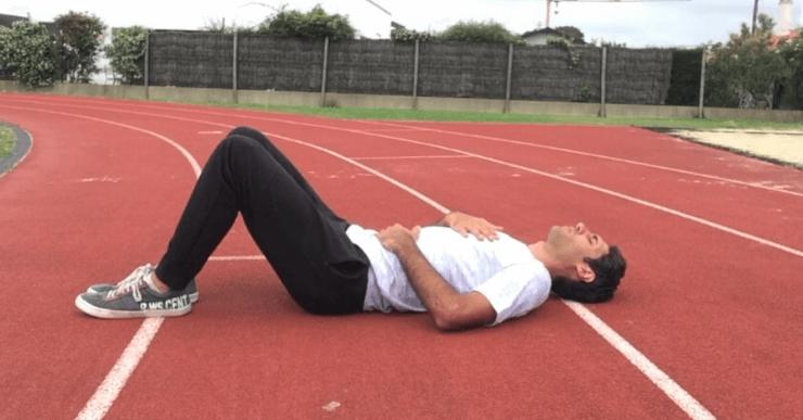 exercice de respiration ventrale