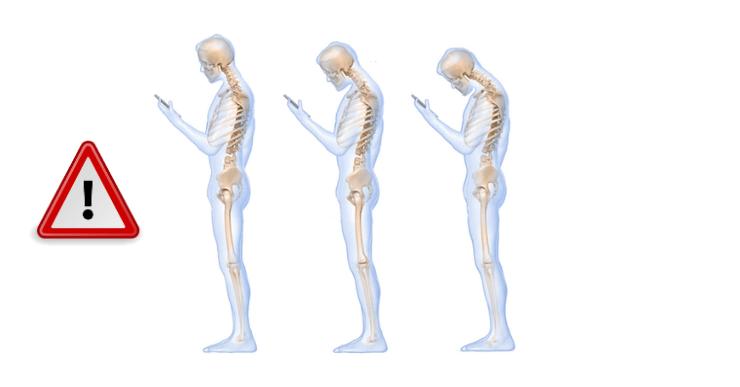 douleur au cou text neck