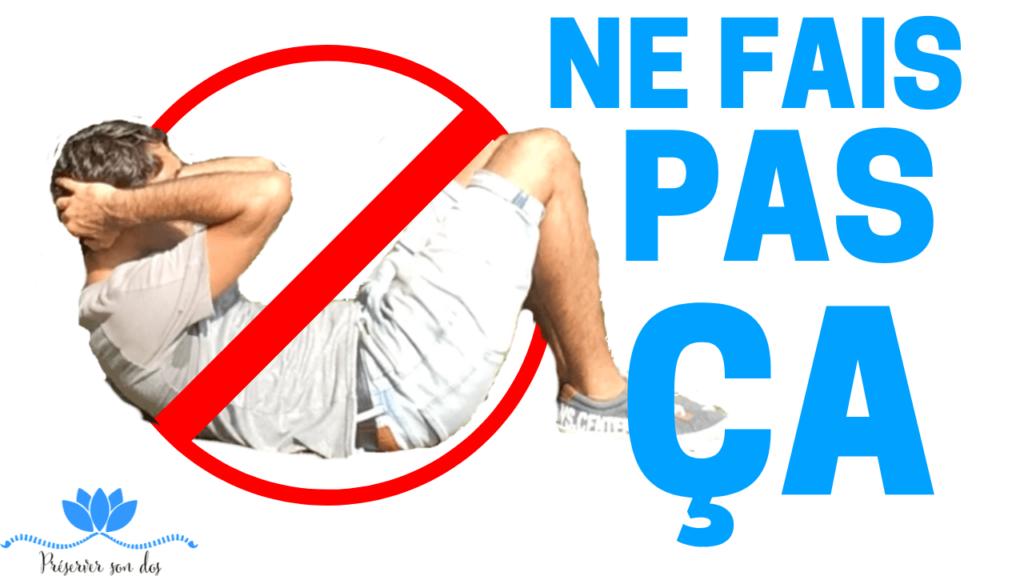 hernie discale exercice à éviter